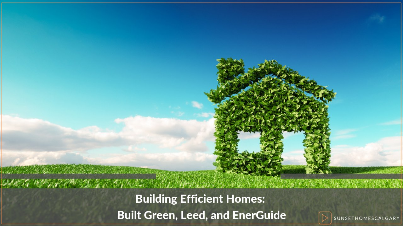 Building Efficient Homes: Built Green, Leed, and EnerGuide